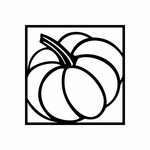 Pumpkin in Square Decal