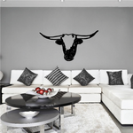 Cattle Cow Texas Longhorns Head Decal