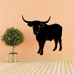 Cattle Cow Standing Texas Longhorn Decal
