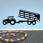 Tractor with Dumping Trailer Decal