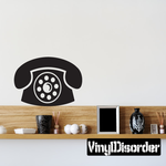 Desktop Rotary Telephone Decal