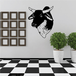 Cattle Cow Holstein Head Decal