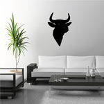 Cattle Cow Holstein Head Silhouette Decal