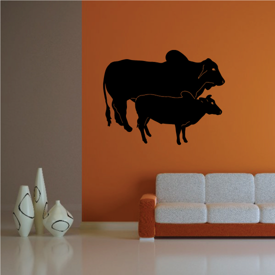 Cattle Cow Brahman and Calf Decal