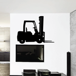 Parked Forklift Decal