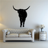 Cattle Cow Texas Longhorn Greeting Decal