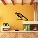 Skiing Wall Decal - Vinyl Decal - Car Decal - CDS077