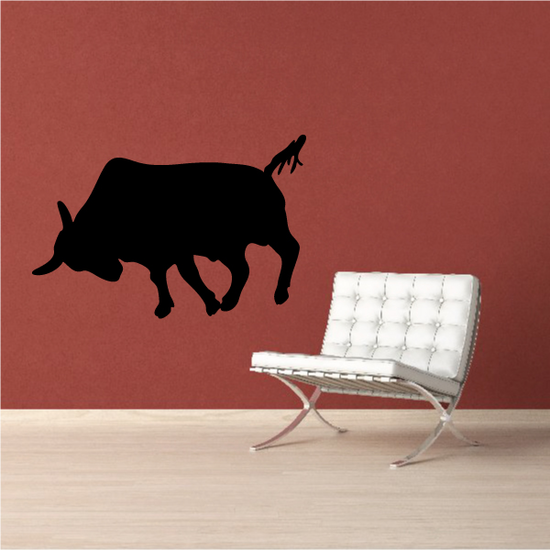 Cattle Cow Pushing Decal