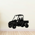 Utility Task Vehicle UTV with Roof Front View Decal