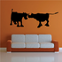Cattle Cow Couple Socializing Silhouette Decal
