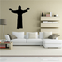 Jesus with arms open Decal