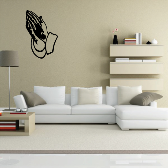 Praying Hands Religious Decal