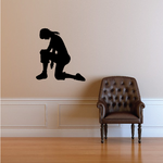Woman with hands down Praying Decal