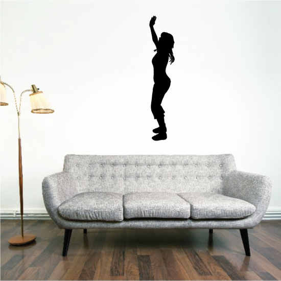 Standing Mother Praying with hands in air Decal