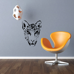 Angry Cheetah Head Decal