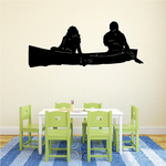 Two person Canoe Decal