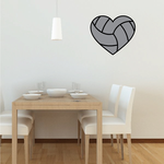 Volleyball Heart Sticker