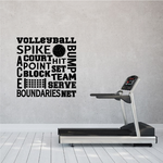 Volleyball Word Collage Decal