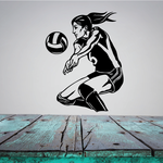 Female Volleyball Player Decal