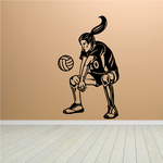 Female Volleyball Hitter Decal
