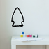 Arrowhead Outline Wall Decal