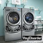Floral Washing Machine Decal 02