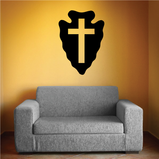 Arrowhead Cross Decal