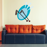 Skiing Wall Decal - Vinyl Sticker - Car Sticker - Die Cut Sticker - CDSCOLOR116