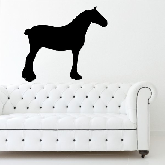 Clydesdale Horse Decal
