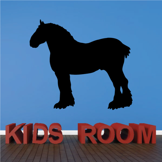 Clydesdale Standing Horse Decal