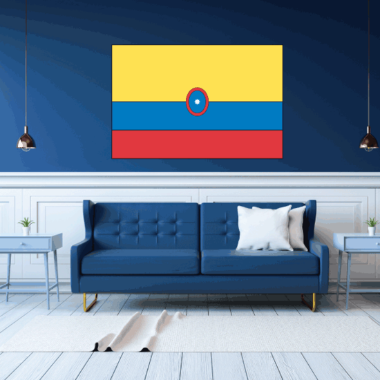 Colombia Flag Sticker 02