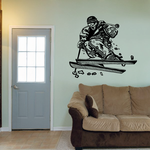 Skiing Wall Decal - Vinyl Decal - Car Decal - CDS020