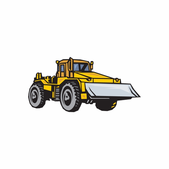 Construction Plow Sticker