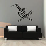 Skiing Wall Decal - Vinyl Decal - Car Decal - CDS023