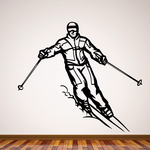 Skiing Wall Decal - Vinyl Decal - Car Decal - CDS024