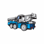 Driving Mobile Crane Truck Decal