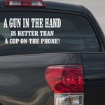 A Gun In The Hand Decal