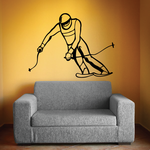 Skiing Wall Decal - Vinyl Decal - Car Decal - CDS028