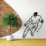 Skiing Wall Decal - Vinyl Decal - Car Decal - CDS030