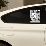 Clinging To My Bible And Gun Decal
