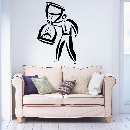 Hour Glass Wall Decal - Vinyl Decal - Car Decal - Business Decal - MC08