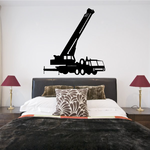 Massive Portable Crane Truck Decal