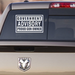Government Advisory Proud Gun Owner Decal