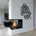 Skiing Wall Decal - Vinyl Decal - Car Decal - CDS047