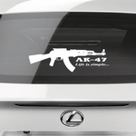 AK47 Life Is Simple Decal
