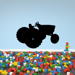 Tractor Silhouette Decal