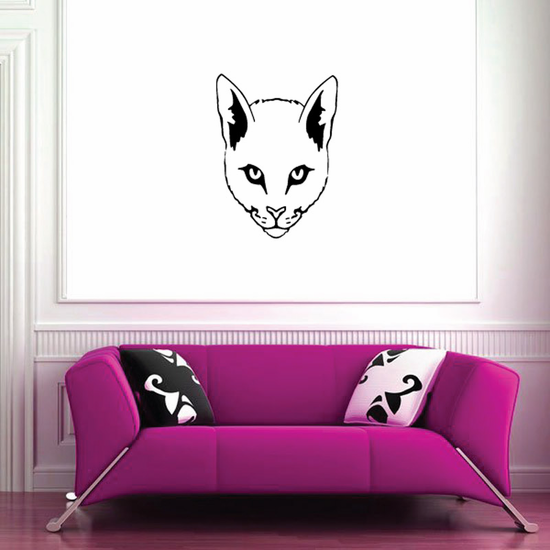 Charming Cat Head Decal