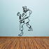 Cartoon Black Belt Kung Fu Decal