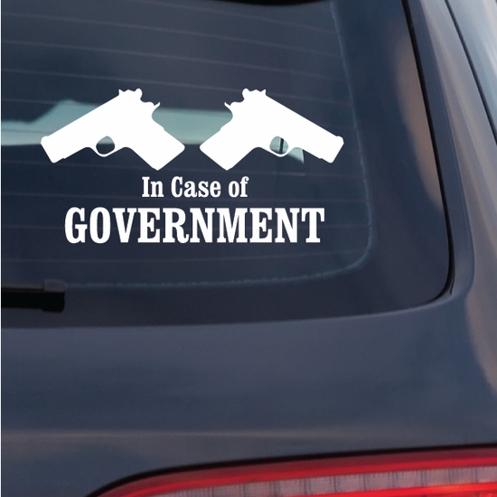 In Case Of Goverment Decal