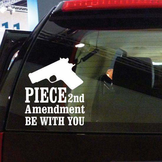 Piece Be With You Decal